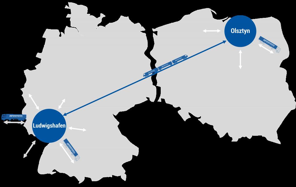 Trasa Olsztyn - Ludwigshafen